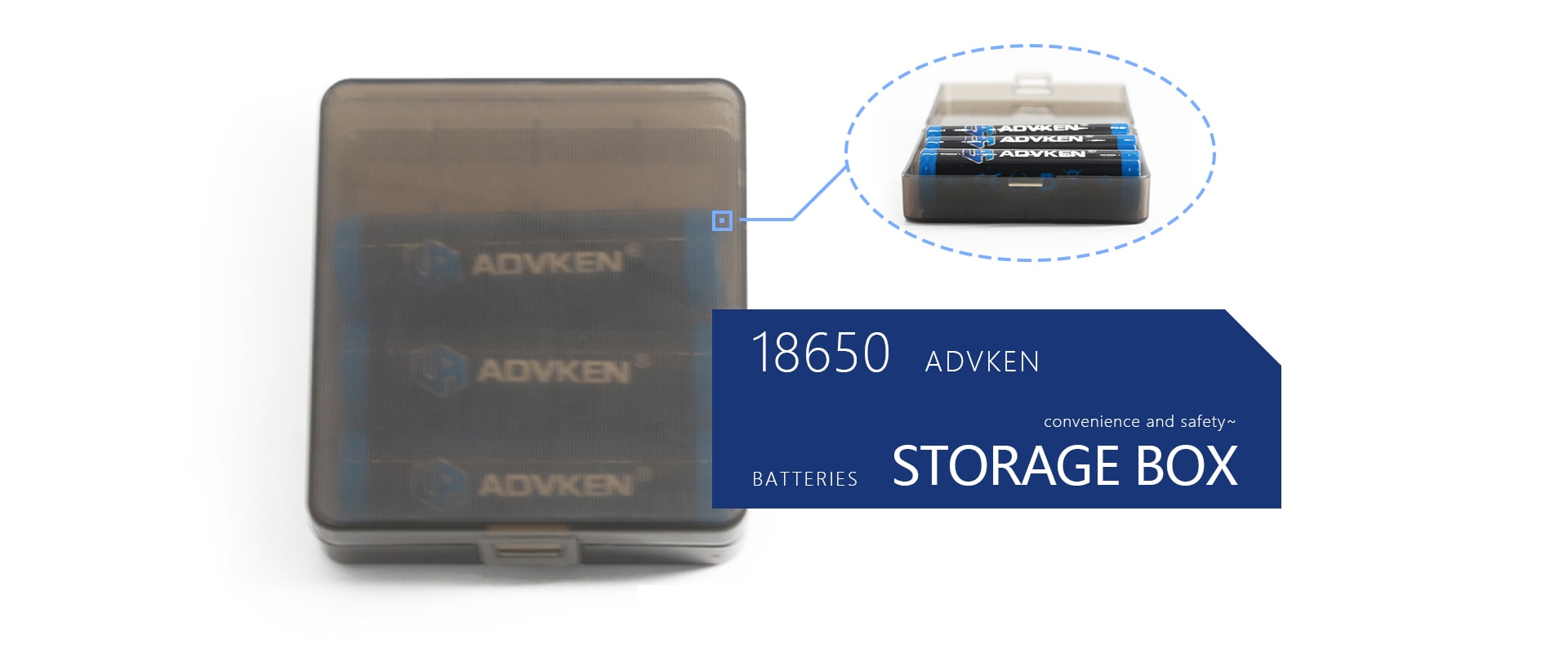advken 18650 battery box 4 pc