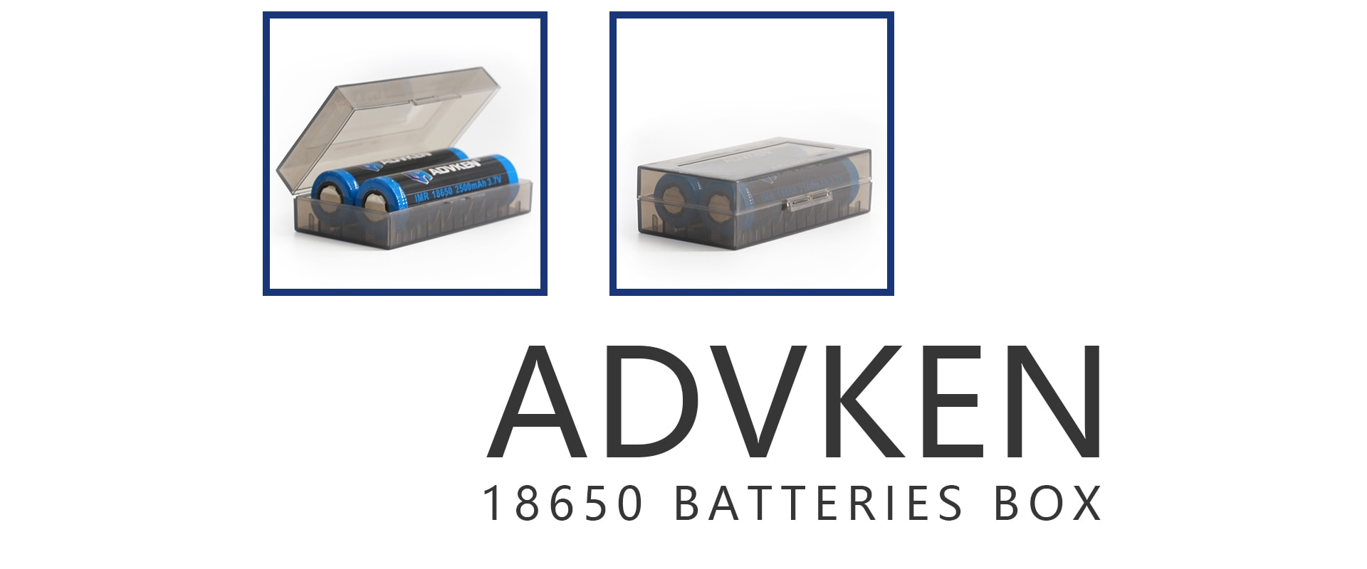 advken 18650 battery box 2 pc