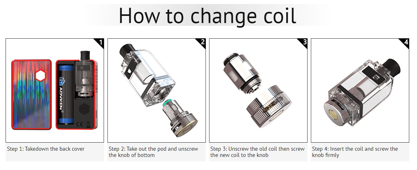 Advken Artha Pod Mod How to change coil